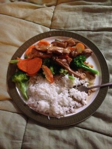 Culinary K's own concotion - Ginger Chicken Stir Fry