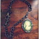Steampunk Heavy Chain Olive Cameo