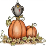 Crow on a pumpkin clipart - Culinary K, berry mallow yam bake