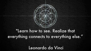 """Learn how to see. Realize that everything connects to everything else."" - Leonardo da Vinci - Getting Published"