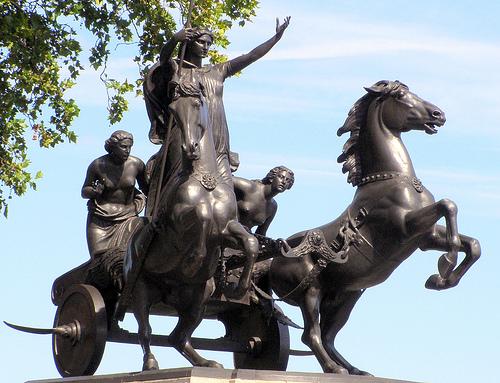 Boadicea (Boudica) Statue - history's most rebellious women