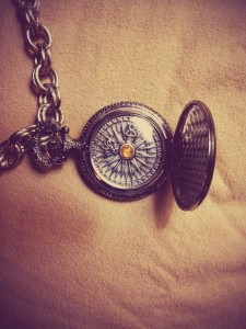 steampunk compass, Open Book Blog Hop