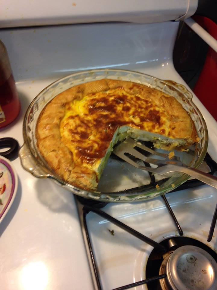 K's perfected Chèvre Leek Quiche - Culinary K