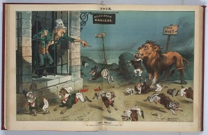 Library of Congress - Public Domain - Irish political cartoon. - the Choctaws Saved the Irish
