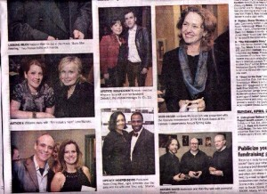 Upstate Independents Gala. Yes, I met Melissa Leo. Yes, she is as awesome as you think she is. Times union clipping. Social Arson