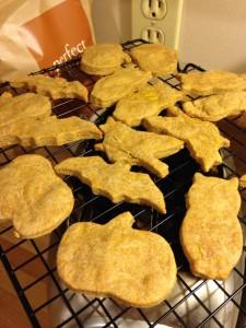 Pumpkin Peanut Butter Dog Treats, cookies, sadie
