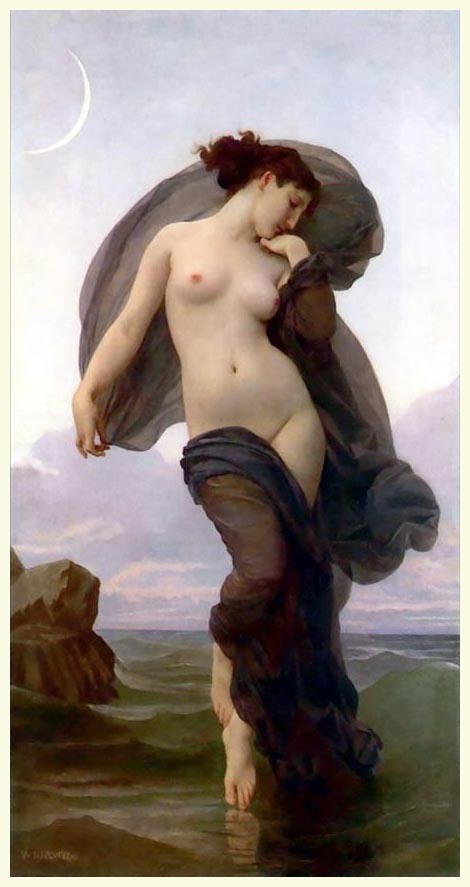 Open Book Blog Hop, Evening Mood by William Adolphe Bouguereau