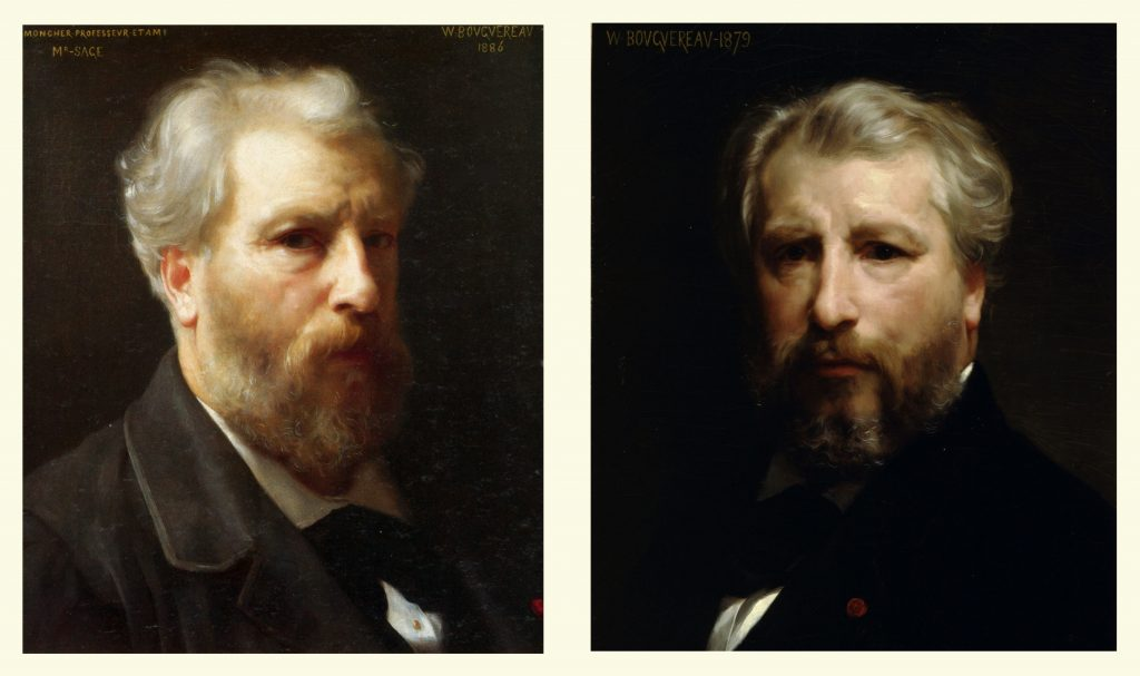 Open Book Blog Hop, William Adolphe Bouguereau, self portraits