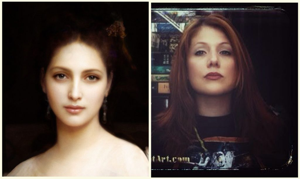 Open Book Blog Hop, Aphrodite by William Adolphe Bouguereau with a photograph of myself.