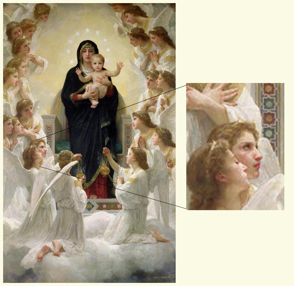 Open Book Blog Hop, The Virgin with Angels by William Adolphe Bouguereau