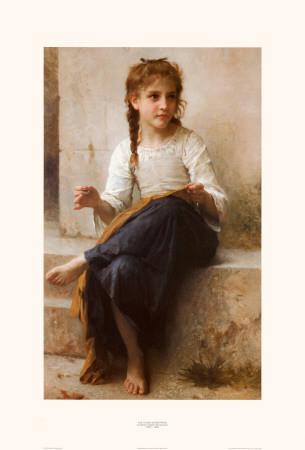 Open Book Blog Hop, La couturière (The seamstress) by William Adolphe Bouguereau