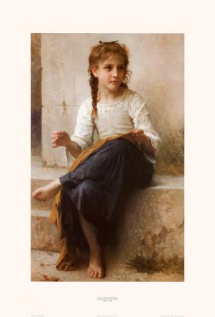Open Book Blog Hop, La couturière (The seamstress) byWilliam Adolphe Bouguereau