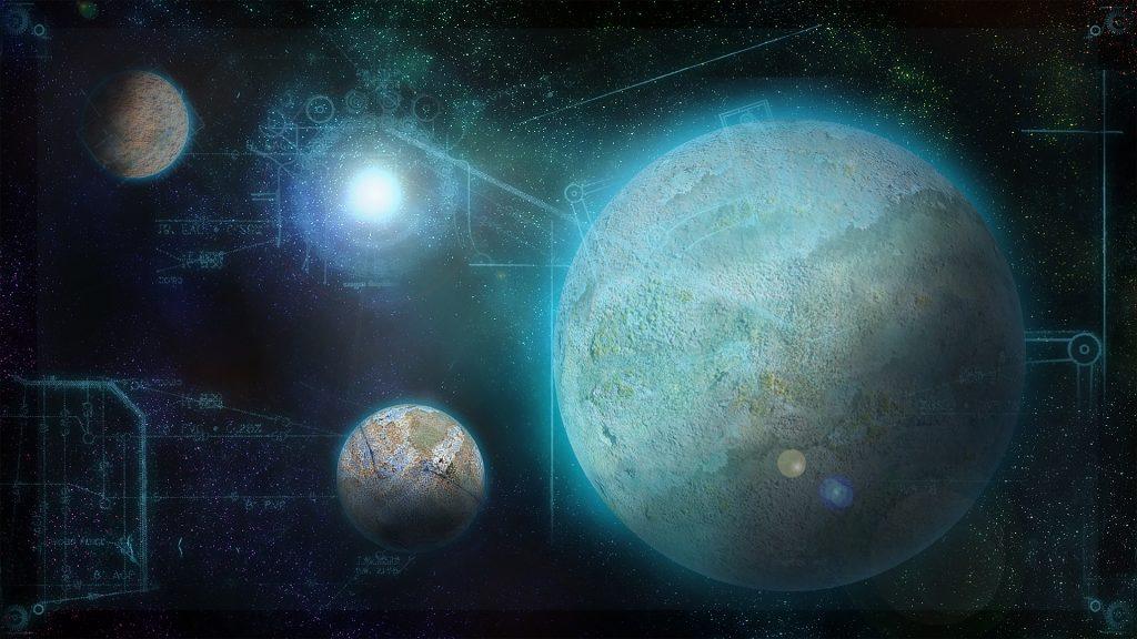 The Trailokya Trilogy, Samsara, planet, grid