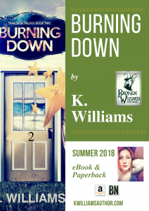 Open Book Blog Hop, the trailokya trilogy, burning down