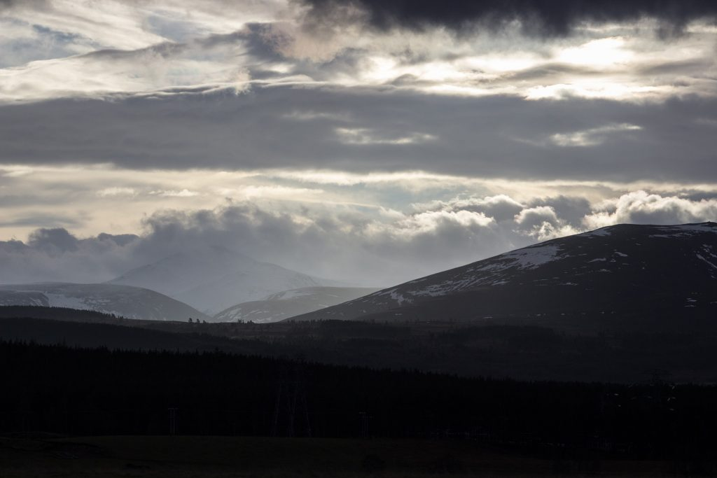 by Rothiemurchus-on Pixabay - Cairngorms in Scotland, wide shot of the mountains and sky