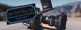 open book blog hop, movie camera